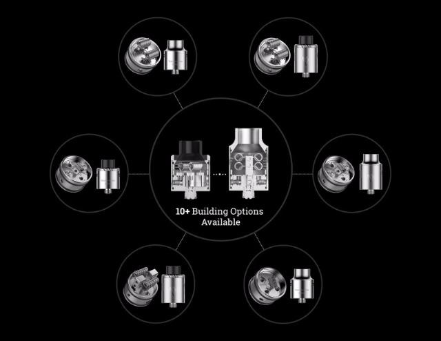 Vaporesso Transformer RDA Verdampfer mit 10 versch. Bau - Optionen