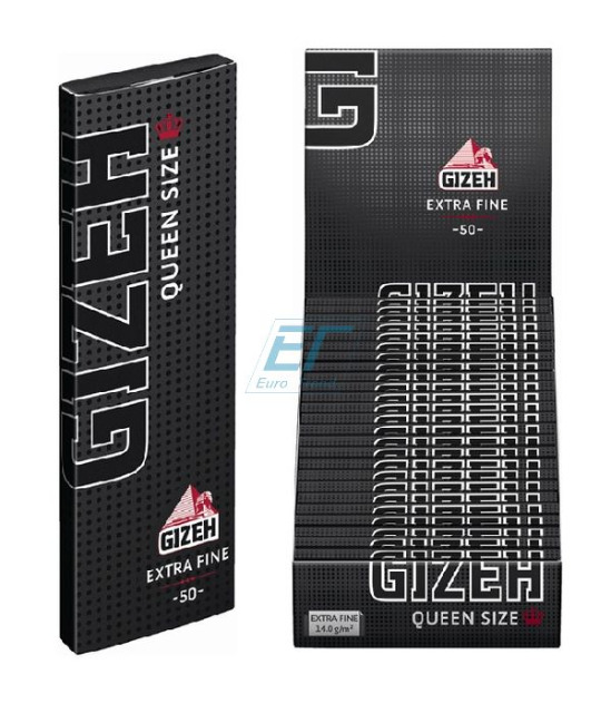 GIZEH Black Queen Size 25er Box/50 Blatt