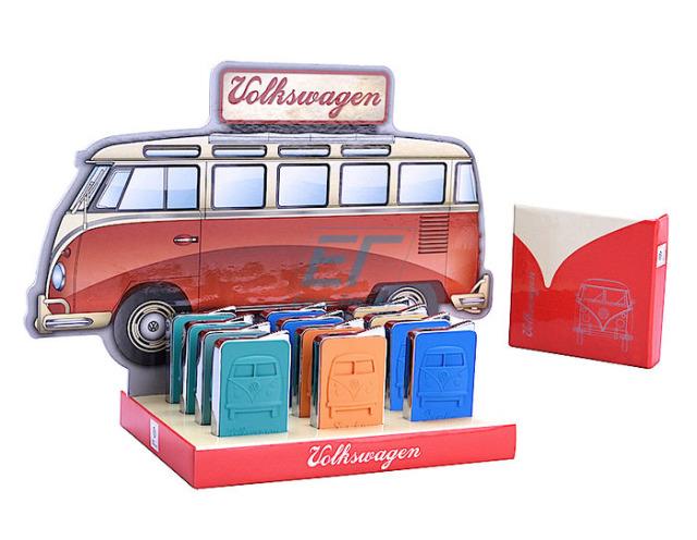 Die befüllten Metall Gasfeuerzeuge sind Nachfüllbar Volkswagen Rubber Normale Flame ca. 5,5cm x 4cm inkl. Geschenkverpackung mit schönem Verkaufsdisplay für die Theke