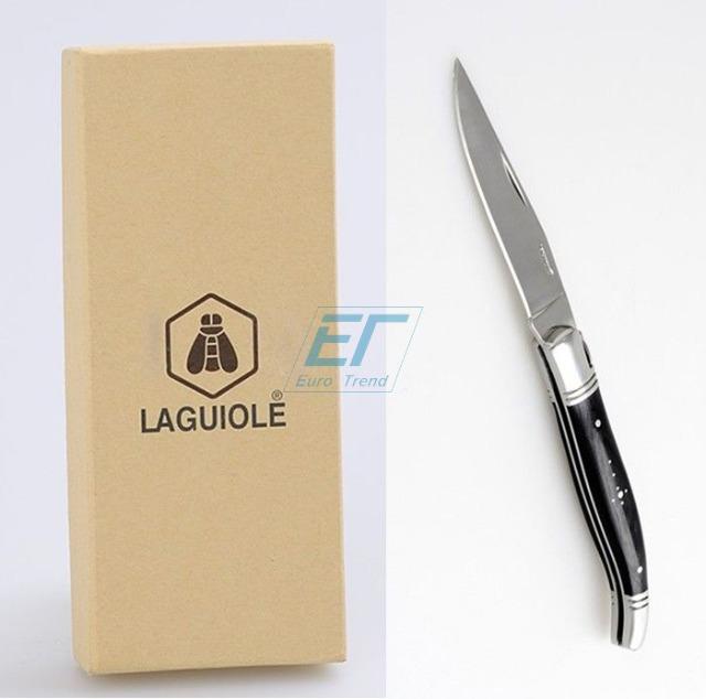 Laguiole Taschenmesser Schwarz Foldable