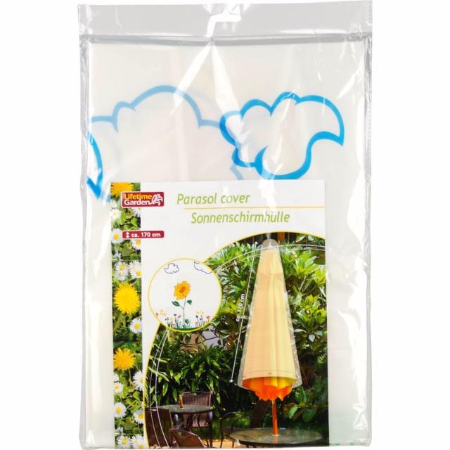 28-293059, Sonnenschirmhülle mit Blumenmuster,, Sonnenschirmschutz, Schutzhülle Sonnenschirm Abdeckung Hülle