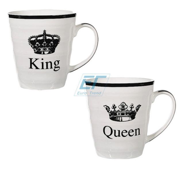 Becher King & Queen 2er Set Porzellan Tasse