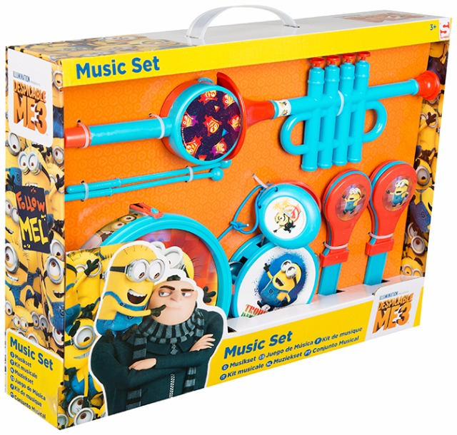 Musik Set 9-teilig Despicable Me 3 Minion