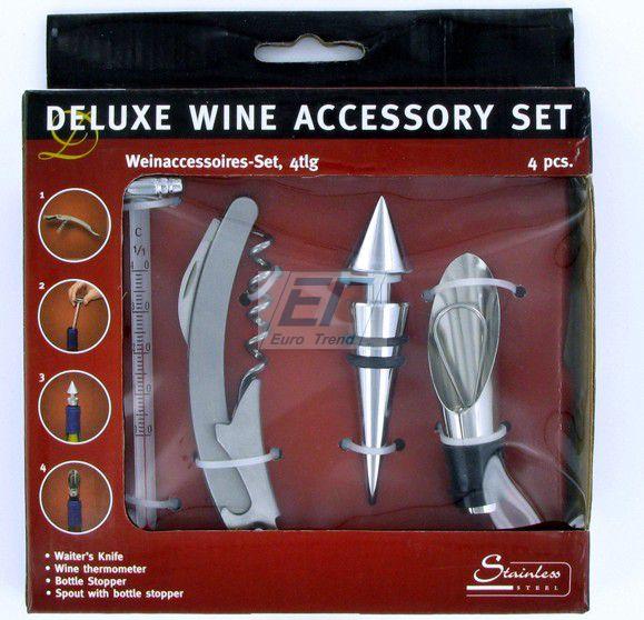 ! Deluxe Wein Set 4 Teilig