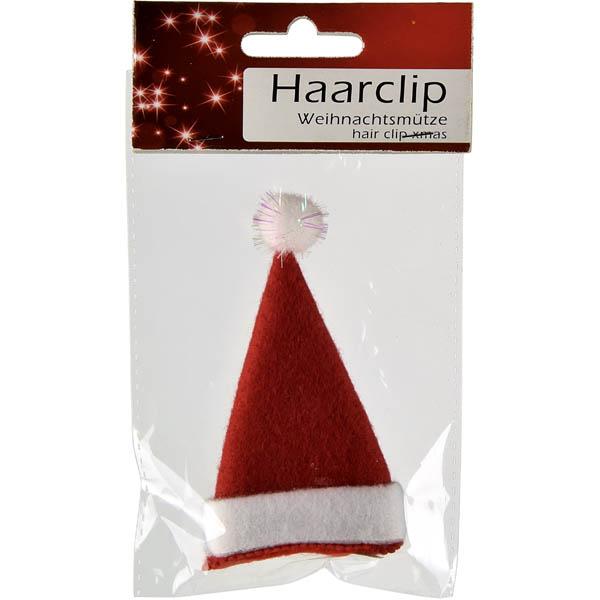 28-220494, Haarspange Weihnachtsmütze, Nikolausmütze