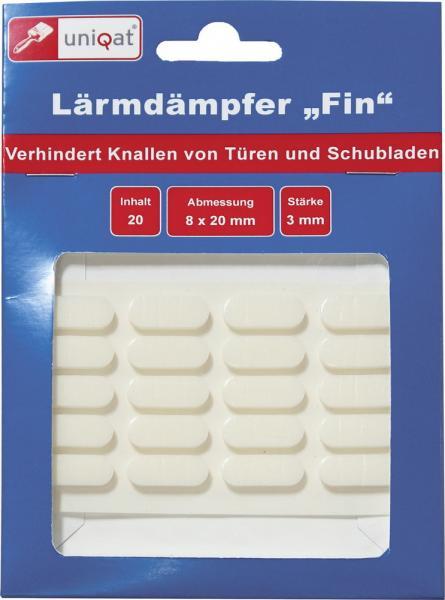 Uniqat Lärmdämpfer Fin Weiss, 20er Pack (15007793) - Restposten.de