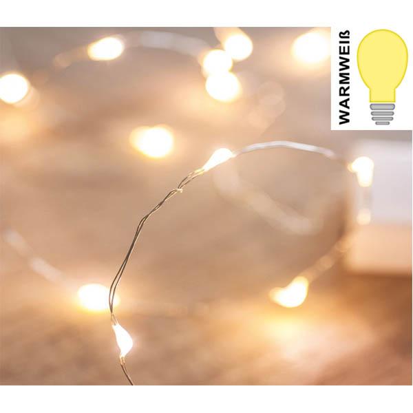 28-765931, LED Lichterkette micro 20 LED, warmweiss, Weihnachtsbaum, Tannenbaum, usw