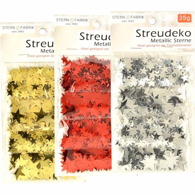 28-101937, Streudeko Metallic Sterne 35 gr., Weihnachten, Dekoration+++++++
