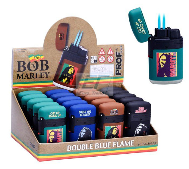 Feuerzeug BOB MARLEY Prof Doppel Blaue Jet Flame
