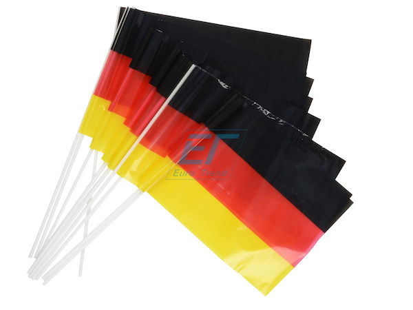 12er Set Handfahnen Deutschland PE