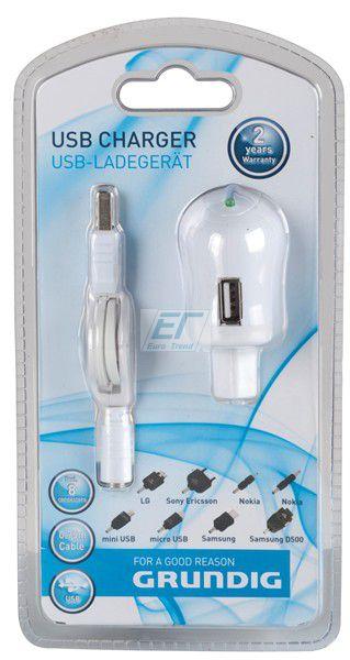 Grundig USB Ladegerät mit 8 Stecker