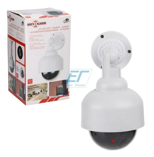 Kamera-Attrape mit LED Kabellos Weiß Safe Alarm
