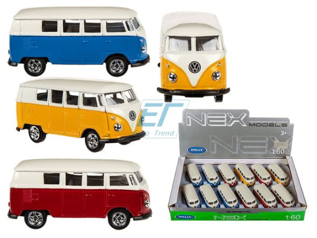 Volkswagen T1 Bus 1963 Modellauto  Metall 1:60 VW Welly