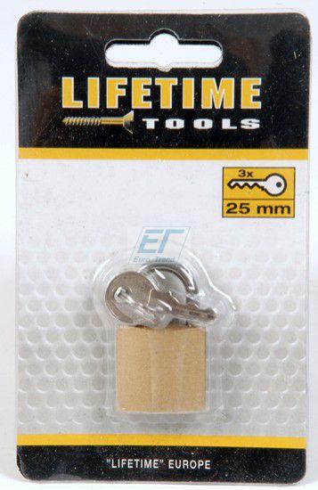 Vorhängeschloss 25mm lifetime tools