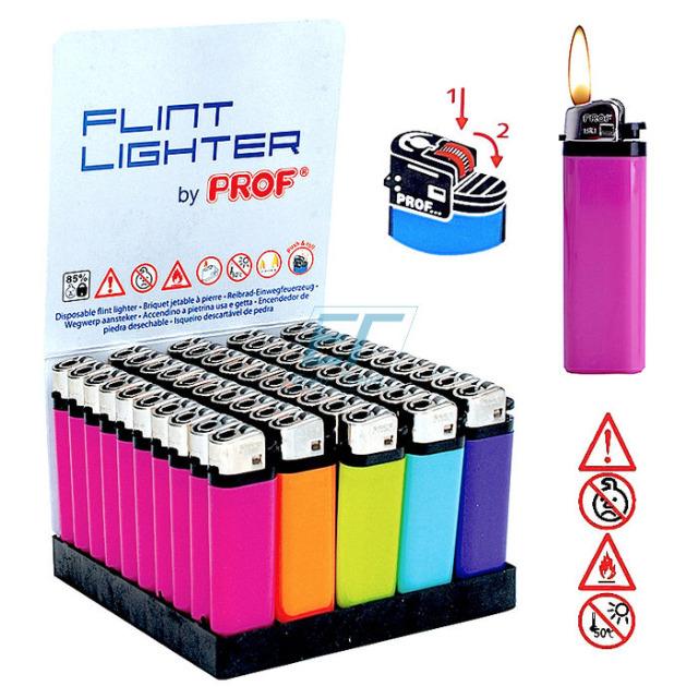 Reibradfeuerzeug PROF Einweg-Color 50er Display mit Barcode