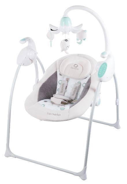 Lionelo Robin pink App-gesteuerte Babyschaukel Schaukel Wippe Babywippe mit Moskitonetz 0-9kg Babywiege Baby Wiege Kinderschaukel