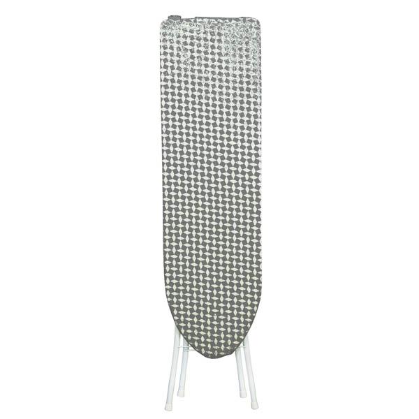 28-074262, Bügelbrett 110 x 30 x 90 cm, Metallgestell in 4 verschiedene Höhen fixierbar, platzsparend klappbar