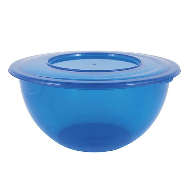 28-153837, Schüssel mit Deckel, 5 Liter, blau, Rührschüssel, Backschüssel