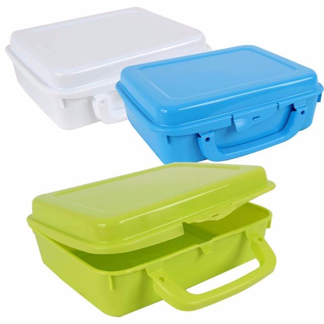 28-170902, Lunchbox 30 x 16 cm, mit Henkel, und Clipverschluss, Brotbüchse Frühstücksdose Butterbrotdose, Schule, Kinderharten, Reise, usw