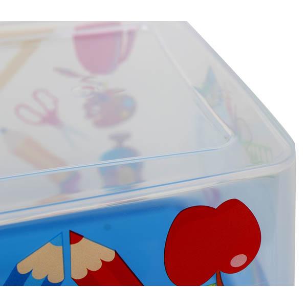 28-179547, Aufbewahrungsbox mit Deckel 4Liter, 29,2 x 19,3 x 13,2 cm, vielseitig einsetzbar, Aufbewahrungskiste, Spielzeug, Schatzkiste, usw