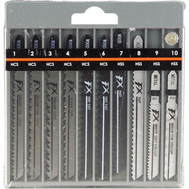 28-720658, Ersatzsägeblätter 10er Pack, für Stichsäge, HCS, Speed Holz HCS, Aluminium und Metall