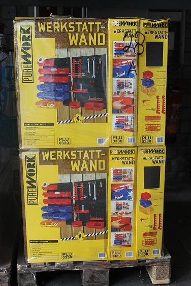 43 tlg. Werkzeug Wand Werkstattwand mit Stabelboxen Lochwand