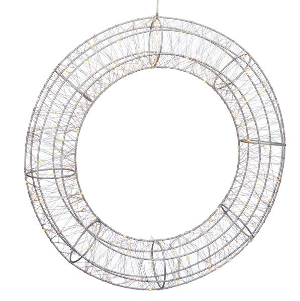 17-72671, LED Kranz 40 cm, 120 LEDs, OUTDOOR und INDOOR