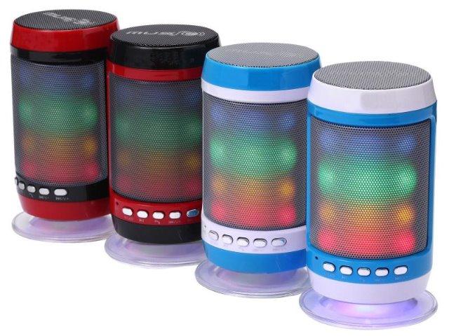 Bluetooth Mobiler Lautsprecher mit Freisprechfunktion und Licht