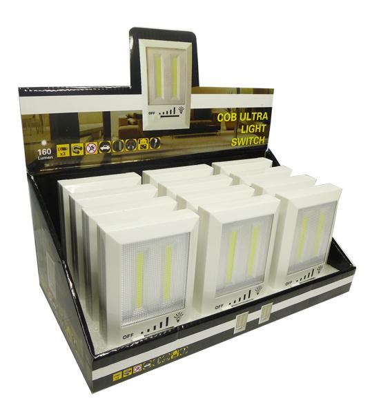 COB LED Lichtschalter 160 Lumen im Display