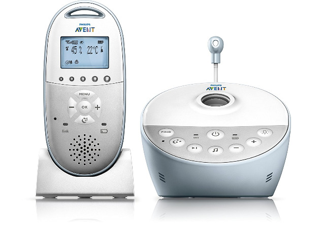 Philips Avent SCD580/00 Babyphone mit Sternenhimmel Projektor Nachtlicht Babyfone