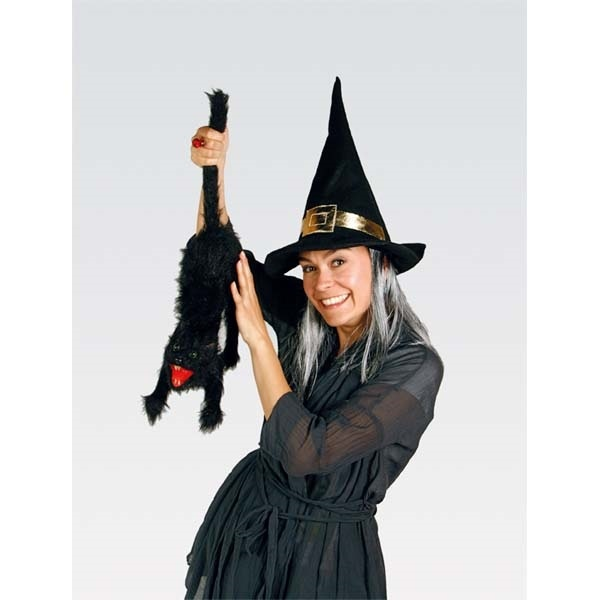 27-15460, Hut - Hexenhut schwarz mit grauen Haaren, Party, Karneval, Halloween, Event, Fasching, usw