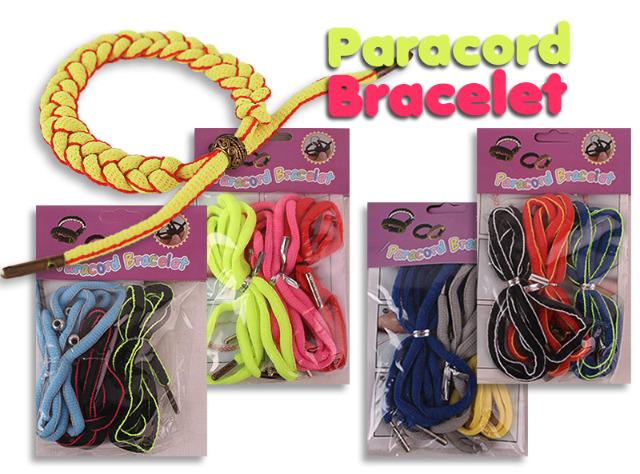 Paracord Bracelet Set 3 Bänder 230 cm Verschluss Metallkugeln Armband Freundschaftsbänder - 0,25 Euro
