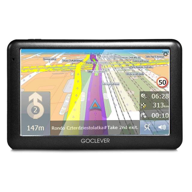 GoClever Navio 2 540 Navigationssystem mit Weltkarte 5 Zoll Navi 4GB Navigation Navigationsgerät GPS TMC Straßen Europa Welt Stau