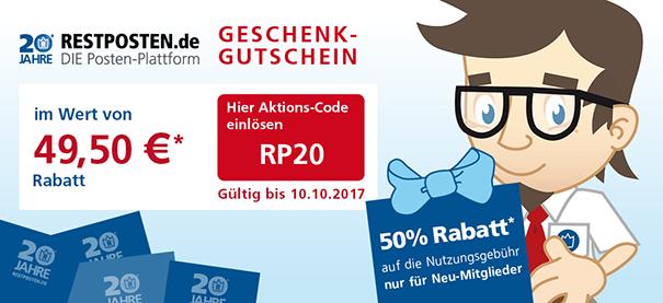 Geschenkgutschein - Lösen Sie noch heute den Gutschein ein! 50% Rabatt für Neu-Mitglieder!!!