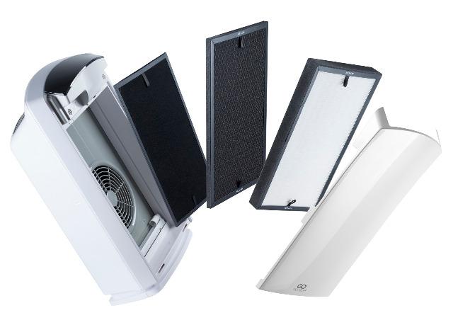 3-fach Filter Set für GoClever Cristal Air Pro Luftreiniger Lufterfrischer HEPA Aktivkohle Filter Ersatzfilter Alergiker Allergie Staub Atem Luft Luftaufbereiter