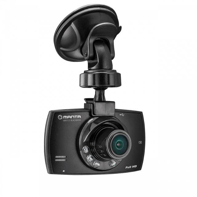 Manta MM313 Black Box 4 Full HD 1080p 2,4 Zoll Dashcam Autokamera mit Infrarot und microSD bis 32GB Kamera Cam Auto Car Carcam Aufzeichnung Unfall Stau Film Filme Video Videokamera Aufnahme Recorder
