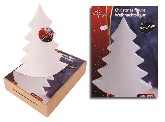 Weihnachtsbaum Porzellan Weihnachtsfigur Tannenbaum 27 cm Tischdeko Weihnachten - 1,99 Euro