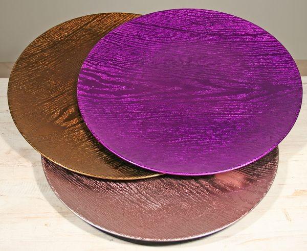 12-23116, Dekoteller Holzlook, 33 cm, Platzteller, Platzhalter