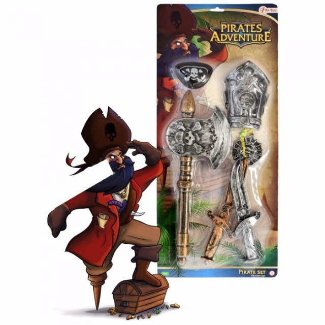 28-178807, Spielset Pirat, 6-teilig, Piraten Spielset