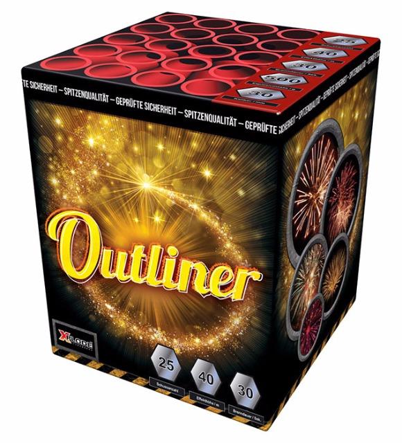 Batteriefeuerwerk Outliner X Plode