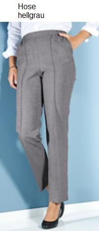 Damen Business Hose von m. collection, Farbe: hellgrau in Übergroßen: ab 28(56)