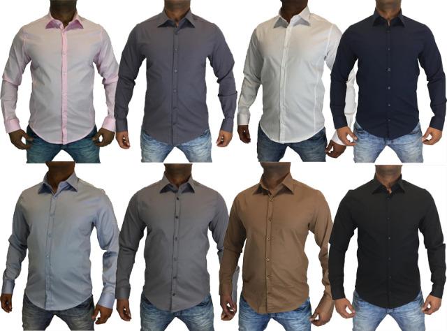 Herren Business Hemden Hemd Sporthemd Freizeithemd Oberhemden - 11,49 Euro