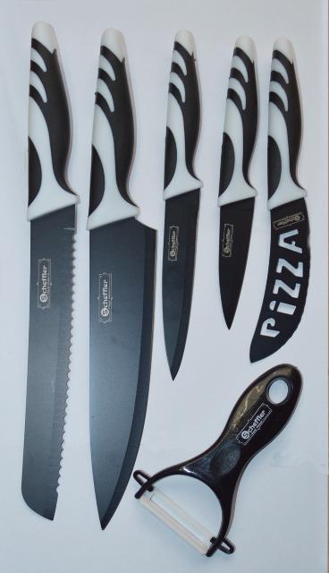 Messerset 6tlg. Schwarz und Weiß von Scheffler