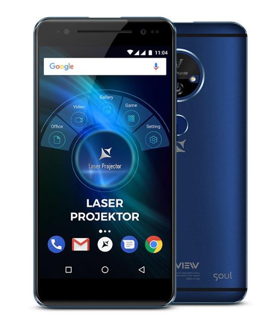 Allview X4 Soul Vision Smartphone mit integriertem Laser Beamer 3GB OctaCore WELTNEUHEIT