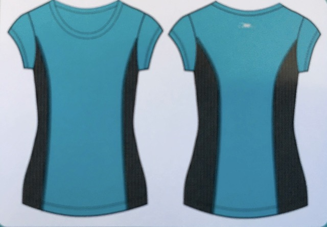 DAMEN-FITNESS-T-SHIRT 2 Farben
