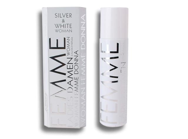 Parfüm Eau de Toilette Damen Omerta Silver & White Spray Duft Parfum 100 ml - 3,49 Euro