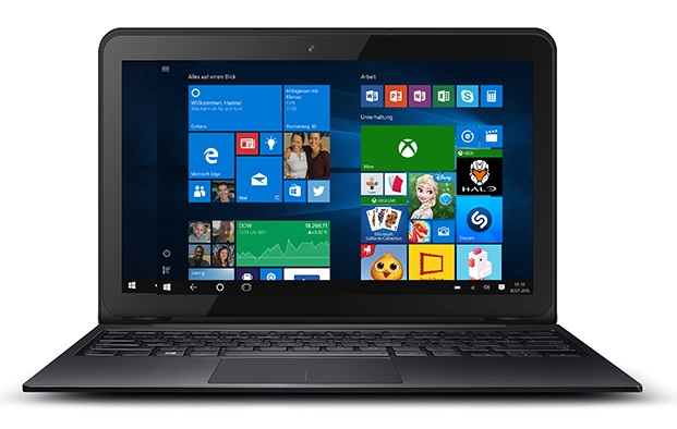 ODYS PRIME WIN 10 2in1 Tablet PC und Notebook Laptop 10,1