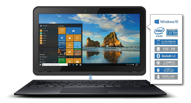 ODYS PRIMO WIN 12 2in1 Tablet PC und Notebook Laptop 11,6