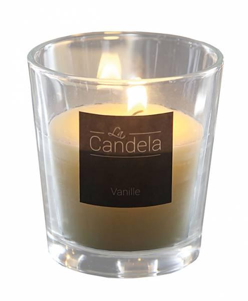 Duftkerze Vanille im Glas 8x8 cm