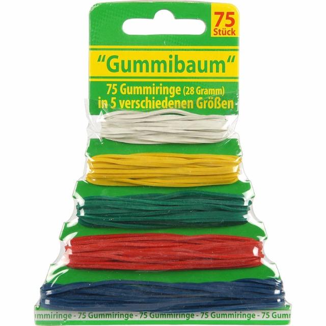28-027344, Gummiringe 75er Pack in 5 verschiedenen Größen, Gummibaum